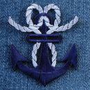 Aufnäher - Anker - blau - Patch