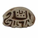 Stempel aus Holz - Elefant - rechts - 3 cm - Holzstempel
