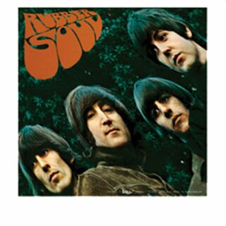 Aufkleber - Beatles - Rubber Soul - Sticker