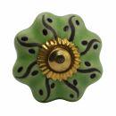 Möbelknauf aus Keramik Shabby Chic - Rosette -...