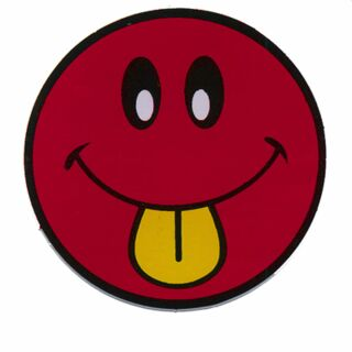 Sticker - Smiler with Tongue - red-yellow