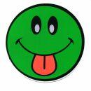 Adhesivo - Smiler con Lengua - verde-rojo