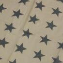 Baumwolltuch - Pareo - Sarong - Sterne - beige-grau