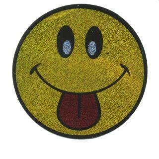 Adhesivo - Smiler con Lengua - amarillo