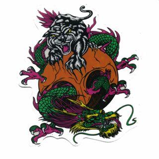 Aufkleber - Drache & Tiger - Sticker