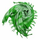 Palituch - grün-leuchtgrün - weiß -...