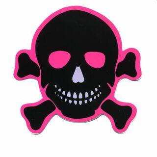 Sticker - Skull - black-pink