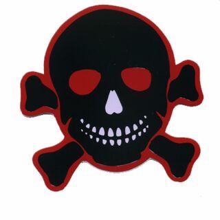 Aufkleber - Totenkopf - schwarz-rot - Sticker
