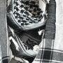Kefiah - bianco - nero - Shemagh - Sciarpa Arafat