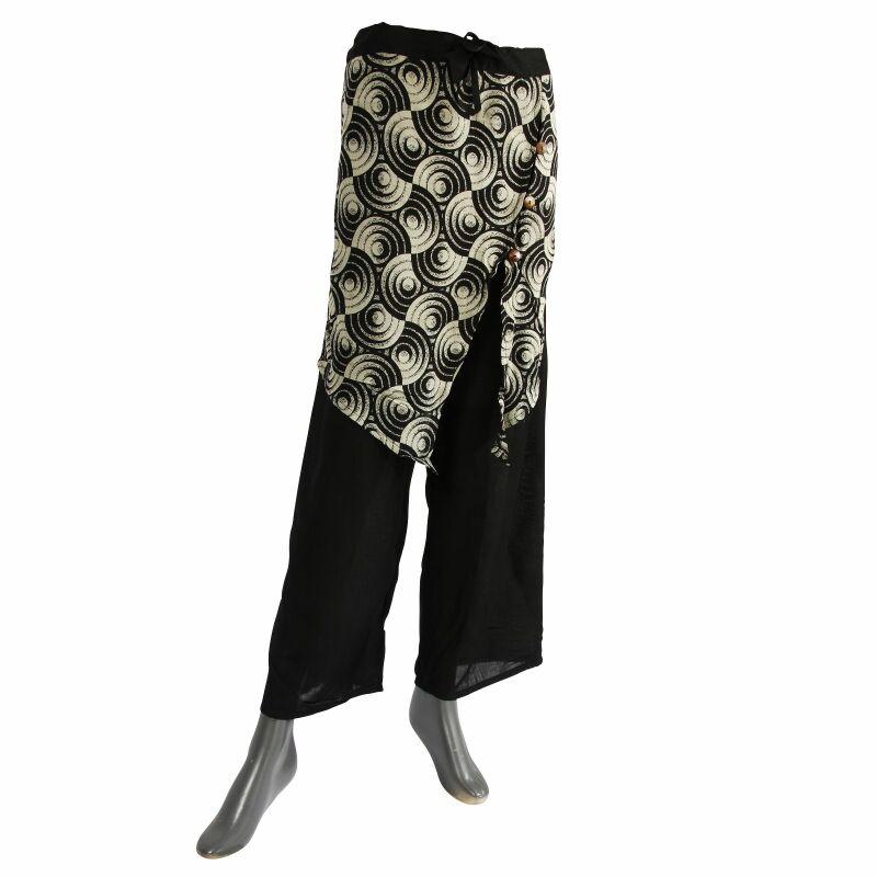 neue Produkte für neueste Kollektion Schlussverkauf Haremshose - Pluderhose - Aladinhose - Modell 03 - Muster 05 - schwarz