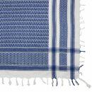 Kufiya - white - blue - Shemagh - Arafat scarf