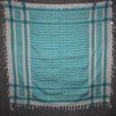 Kufiya - white - turquoise - Shemagh - Arafat scarf