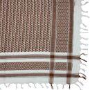Kufiya - Keffiyeh - blanco - marrón - Pañuelo de Arafat