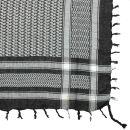 Kufiya - black - white - Shemagh - Arafat scarf