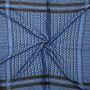 Kufiya - Keffiyeh - negro - azul - Pañuelo de Arafat