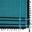 Kufiya - Keffiyeh - negro - turquesa - Pañuelo de Arafat