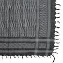 Kufiya - Keffiyeh - negro - gris - Pañuelo de Arafat