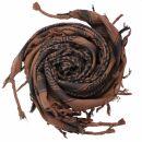 Kufiya - brown - black - Shemagh - Arafat scarf