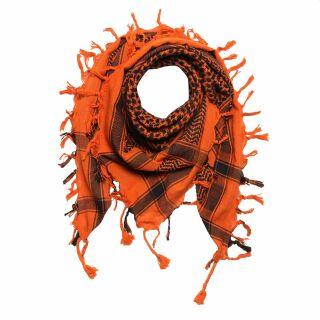 Kefiah - arancione - nero - Shemagh - Sciarpa Arafat