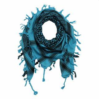 Kufiya - Keffiyeh - turquesa - negro - Pañuelo de Arafat