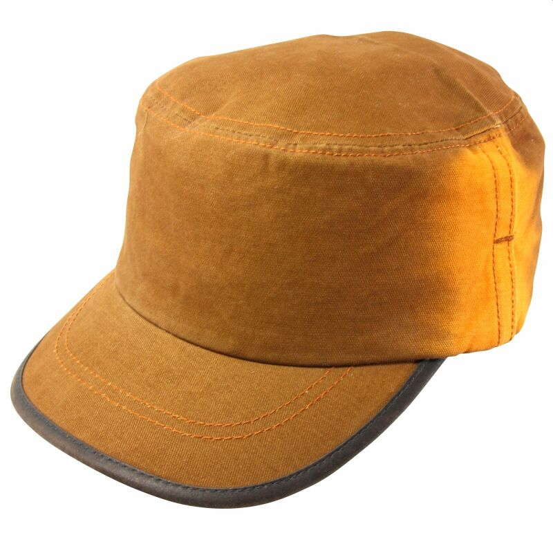 Army Military Cap - Modell 15 - orange - Stonewashed Look - Mütze
