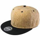Snapback Cap - Kork - schwarz