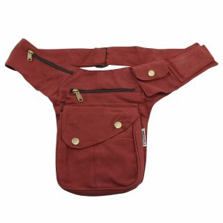 Hip Bag - Buddy - red-bordeaux - brass-coloured - Bumbag...