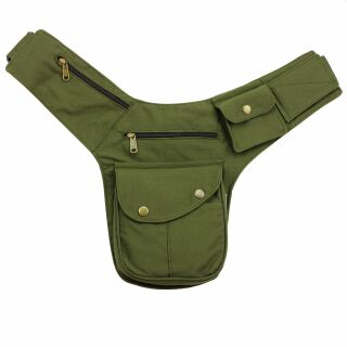 Hip Bag - Buddy - olive green - brass-coloured - Bumbag -...
