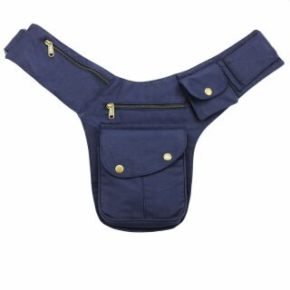 Hip Bag - Buddy - blue - brass-coloured - Bumbag - Belly bag