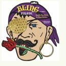 Bling Pirate Sparkle Eye Patch & Hoop Earring