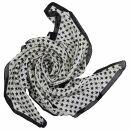 Baumwolltuch - Sterne 1,5 cm weiß - schwarz -...