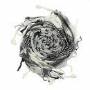 Kefiah - Stelle bianco - nero - Shemagh - Sciarpa Arafat