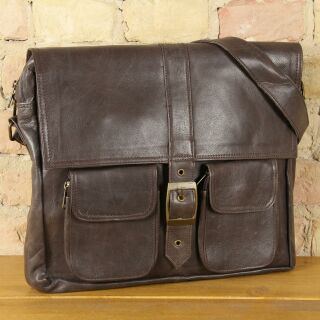 Letizia business leather case made of sturdy leather -...