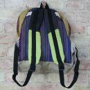 Backpack - hemp - pattern 03 - beige-multicoloured
