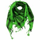 Kufiya - Keffiyeh - verde-verde claro - negro -...