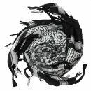 Kufiya - camouflage pixels - black - white - Shemagh -...