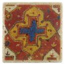 Posavasos de travertino 10x10 cm - Apariencia vintage -...
