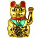 Lucky cat - Maneki Neko - Waving cat - 25 cm - gold