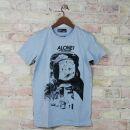 T-Shirt - Alone in the universe - hellgrau