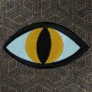 Patch - occhio - giallo-nero 8,5 cm - Adesivo
