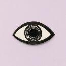 Patch - Occhio - bianco-nero 8,5 cm - Adesivo