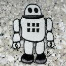 Aufnäher - Roboter - grau - Patch