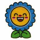 Aufnäher - Blume - lachend - Patch