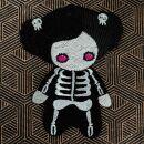 Aufnäher - Skelett Mädchen - Patch