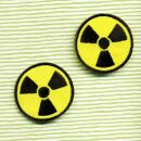 Patch - Segno di potenza atomica nero-giallo piccolo -...