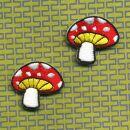 Patch - fungo velenoso rosso-bianco-giallo - Set di 2 -...