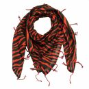 Cotton Scarf - animal patterns - model 08 - squared kerchief
