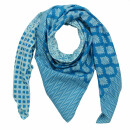 Cotton Scarf - Flowers and ornaments - Model 01 - squared...