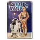 Geprägtes Blechschild 20x30 cm - Star Wars - C3PO...
