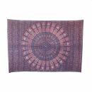 Bedcover - decorative cloth - Mandala - Pattern 04 - 54x83in